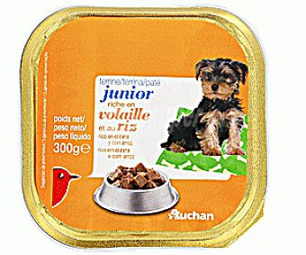 Auchan Comida Húmeda para Perros Rica en Aves y Arroz Tarrina de 300 Gramos