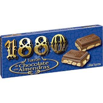 1880 Turrón chocolate con almendras 250g