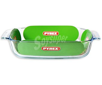 PYREX Fuente rectangular de vidrio borosilicato, con asas, 26x17 centímetros 1 Unidad