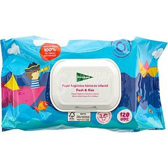 El Corte Inglés Papel higiénico húmedo infantil paquete 120 unidades paquete 120 unidades