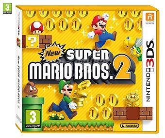 PLATAFORMAS Videojuego New Super Mario Bros2 para Nintendo 3DS, 3DSXL. Género: plataformas. Recomendación por edad pegi: +3 - 1 Unidad 1u