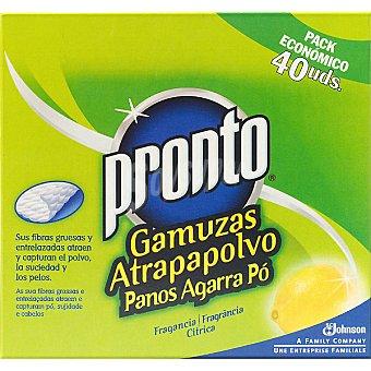 Pronto Recambio de mopa atrapapolvo limón Caja 40 unid