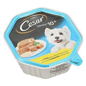 Cesar Comida húmeda para perros Senior 10+ Fácil Digestión de pollo y arroz Lata 150 g