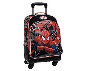 SPIDERMAN Mochila con 4 ruedas y bolsillo exterior, diseño Spiderman Tech 1 Unidad