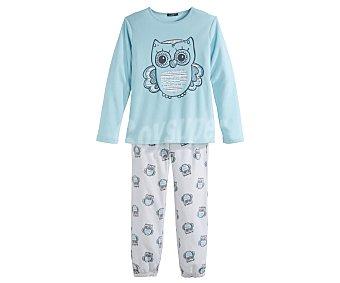 In Extenso Pijama polar largo de niña talla 5.