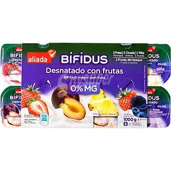 Aliada Yogur bífidus con frutas 8 unidades de 125 g
