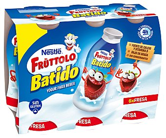 Fruttolo Nestlé Yogur líquido con sabor a fresa 12x60g