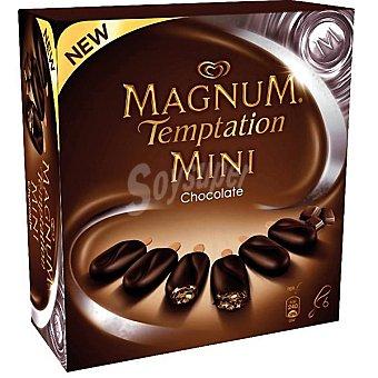 Frigo Magnum Helados de chocolates negro y blanco con brownie y cacao Temptation Mini 6 unidades estuche 300 ml 6 unidades