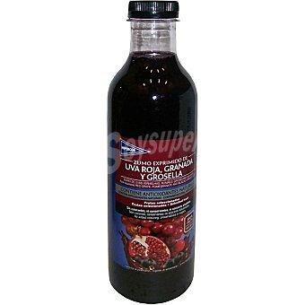 Hipercor Zumo exprimido de uva roja, granada y grosella Botella 750 ml
