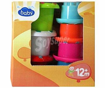 Baby Auchan Cazuelas de colores Apilables 1 Unidad