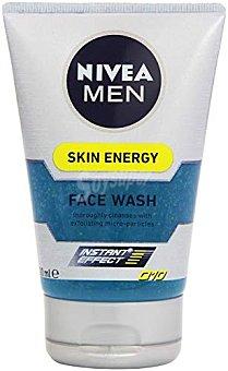 Nivea For Men Skin Energy Q10 gel limpiador facial con micro partículas exfoliantes Instant Effect Tubo 100 ml