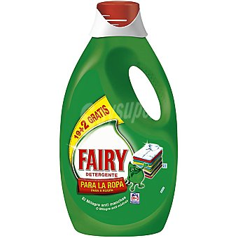 FAIRY detergente máquina liquido para la ropa gratis botella 21 19 + 2 dosis
