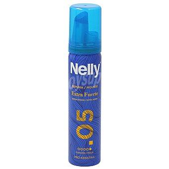 Nelly Espuma fijadora con fijación extra fuerte 75 ml