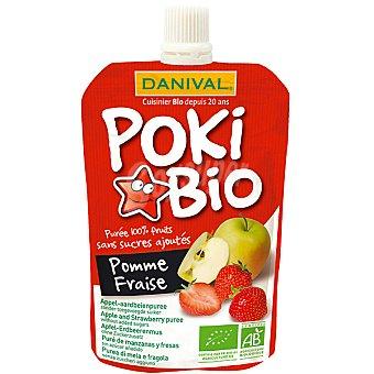 DANIVAL POKI BIO Manzana y fresa puré para beber ecológico formato bolsita pouche 90 g