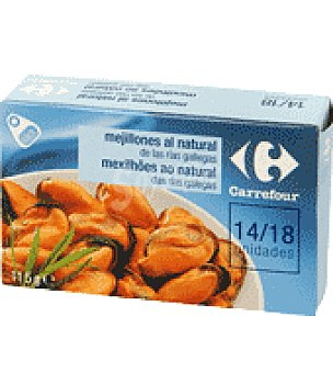 Carrefour Mejillones al natural 14/18 68 g