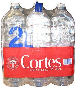 Cortes Agua mineral natural 6 botellas de 2 l