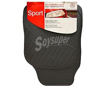 ERMA Juego de 4 alfombrillas universales de PVC de color gris y estilo deportivo, modelo Sport 1 unidad