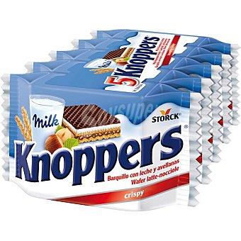 Knoppers Galletas de barquillo con leche y avellanas individuales 5 envases 25 g
