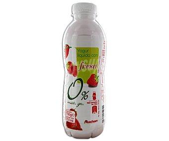 Auchan Yogur líquido de fresa, 0% materia grasa edulcorado 750 gramos