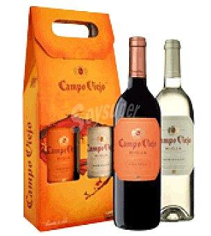 Campo Viejo Estuche de vino D.O. Rioja tinto reserva y blanco semidulce 1 ud