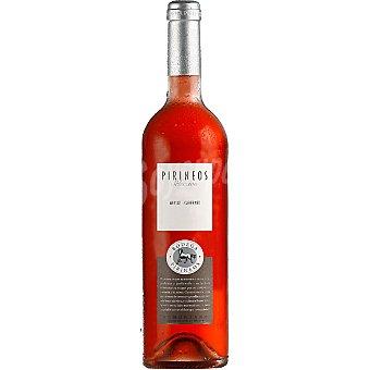 PIRINEOS Selección vino rosado Merlot Cabernet D.O. Somontano  botella 75 cl
