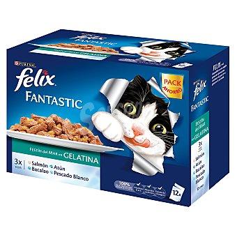 Felix Purina Fantastic de pescado Pack 12x100 g