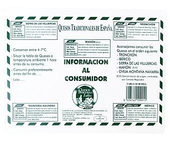Consorcio Tabla Queso Tradicionales (idiazabal, Ibérico, Mahón, Tronchón, Ibores) 500 Gramos