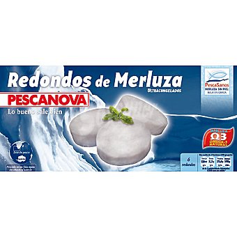 Pescanova Redondos de merluza sin piel Estuche 400 g neto escurrido