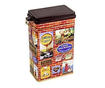 VIROJANGLOR Caja metálica hermética para café modelo Brique, diseño retro, 500 gramos de capacidad 1 Unidad