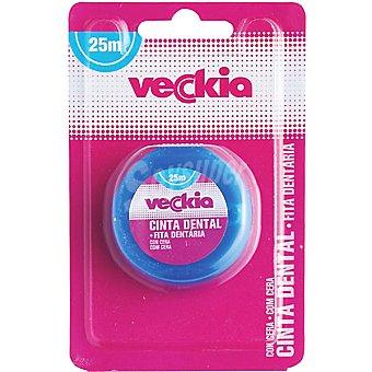 Veckia Cinta dental con cera  blister 25 m
