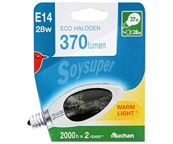 Auchan Bombilla EcoHalo Vela Lisa E14, 28W 1 Unidad