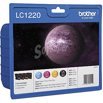 BROTHER LC1220VALBP Cartuchos de tinta originales Pack 4