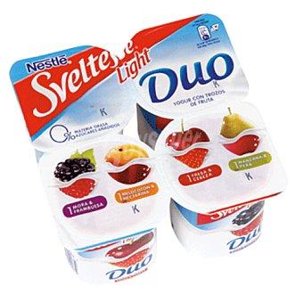 Sveltesse Nestlé Yogur duo con trozos de fruta light Pack 4 unidades 125 gr