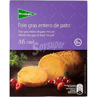 El Corte Inglés Foie gras entero mi cuit de pato envase 80 g Envase 80 g