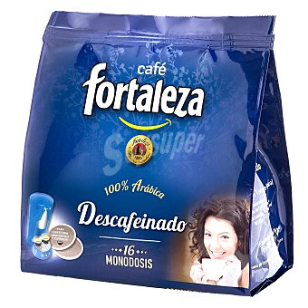 Fortaleza Café molido descafeinado Paquete 16 monodosis