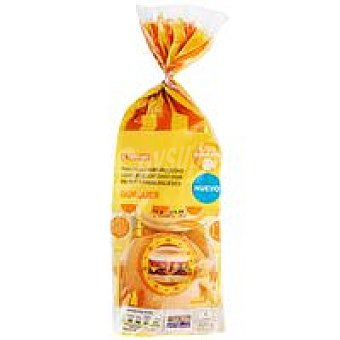 Eroski Pan de hamburguesa sin sésamo 4 unid