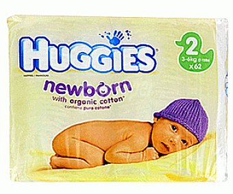 HUGGIES NEWBORN Pañalestalla 2 ( 3 a 6 Kilogramos) 92u