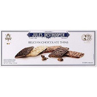 Jules destrooper Galletas con tres chocolates belgas Estuche 100 g