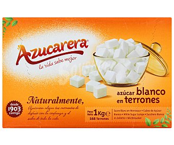 Azucarera Terrones de azúcar sin envolver Caja 1 kg