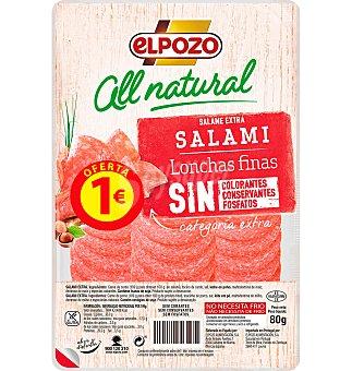 ElPozo Salami Al Natural 90 GRS