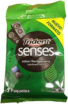 Trident Chicle hierbabuena senses Paquete de 3 uds