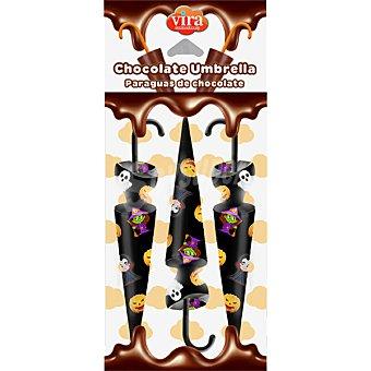 Vira Paraguas de Halloween de chocolate  envase 30 g