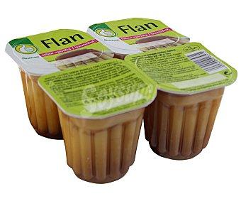 Productos Económicos Alcampo Flan de vainilla Pack 4 unidades de 100 gramos
