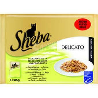 Sheba Mix de pescado-carne Pack 4x85 g