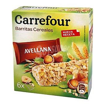 Carrefour Barritas de muesli con avellana 6 barritas (150 g)