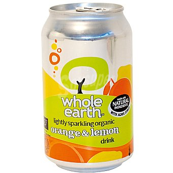 WHOLE EARTH Refresco de naranja y limón sin azúcar ecológico Envase 330 ml