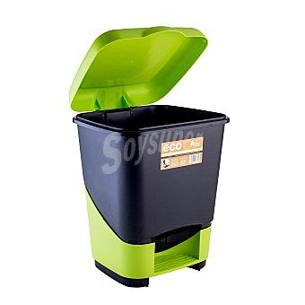 Bosque verde cubo basura pedal 22 l negro verde 1 unidad - Cubo basura pedal ...