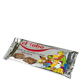 El Lobo Turrón chocolate crujiente 200 g