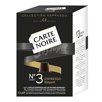 Carte Noire Café en cápsula nº 3 Espresso Elegant 10 unidades