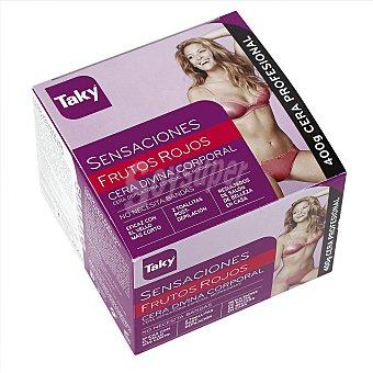 Taky Sensaciones cera corporal frutos rojos especial microondas Caja 400 gr